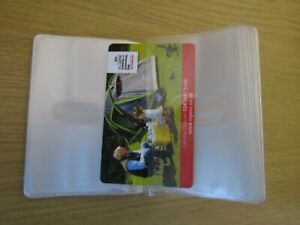 Replacement Credit Card Holder Plastic Sleeves Inserts Portrait style 20 Cards