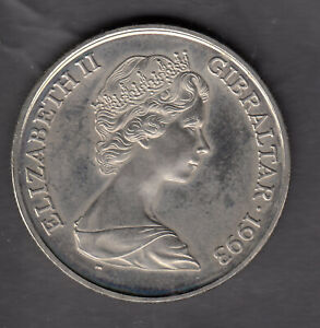 1993 GIBRALTAR 1 CROWN  COIN HOUSE OF HANOVER KING GEORGE III 1760-1820 UNC