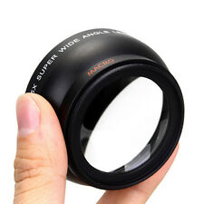 58MM 0.45x Wide Angle Macro Lens for Canon EOS 1100D DSLR Rebel T1i T2i XTi XSi#
