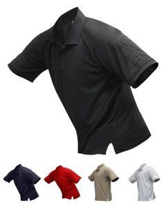 Vertx VTX4000P Men's Coldblack Short Sleeve Polo Loose-Fit Performance Shirt