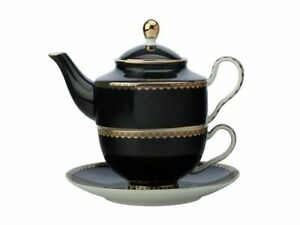 Maxwell & Williams Teas & C's Classic Tea for One with Infuser 380ML Black