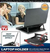 Laptop stand cooling holder desk table tray with Heat Dispersion 360 swivel base