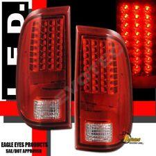 08-16 Ford F250 F350 F450 Super Duty Pickup Red LED Tail Lights Lamp RH + LH