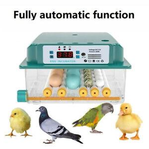 16 Egg Digital Incubator Automatic Turning Temperature Control Chicken Hatcher