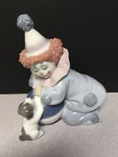 """Lladro Figurine #5278 """"Pierrot with Puppy and Ball"""" Mint Condition"""