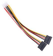 IDE (Molex) 4 pin power cable adaptor to 2 x SATA 15 pin