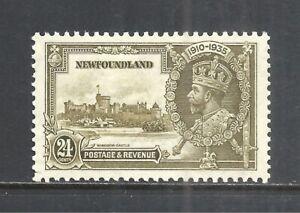 NEWFOUNDLAND SCOTT 229 MNH VF - 1935 24c OL GREEN JUBILEE ISSUE (B)   CAT $9.00