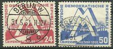 DDR MiNr. 282-283 (Leipziger Messe 1951) kpl. gestempelt