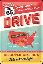 Enseigne Métallique Route 66 Drive (Na 3020)