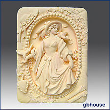 Silicone Mold, soap mold, plaster mold- Portrait of a Country Lady