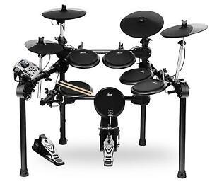 Digital E-Drum Set Elektronisches Schlagzeug Drumkit Rack Fussmaschine USB Midi
