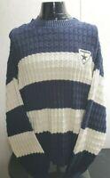 Mens Vintage Dallas Cowboys Sweater SZ XL Football Blue White Pullover NFL