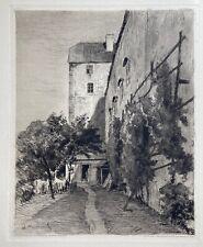 Erzherzog Heinrich Ferdinand: Original Radierung von 1903 in der Platte signiert