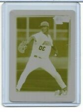 Asher Wojciechowski Printing Plate Yellow 2010 Bowman Chrome USA Baseball