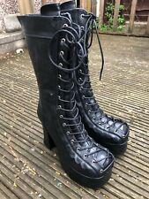 Demonia CHARADE-130 Black Platform Boots Goth,Punk UK8
