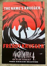 AFFICHE THE NAME'S KRUEGER / FREDDY KRUEGGER A NIGHTMARE 4 1988