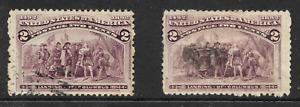 US 1893, 2C Brownish Violet, SG 236, Colour Variety, U