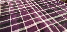 Throw Blanket - Fleece lined - 4 ft x 4.75 ft. Purple, black and white.
