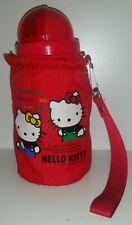 1989 HELLO KITTY INSULATED THERMOS POP UP STRAW CUP WITH CARRY CASE