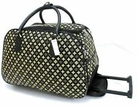 New Designer Inspired Cabin Approved Trolley Hand Luggage Holdall Suitcase Bag