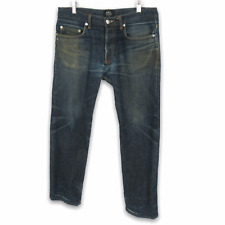 APC Distressed New Standard Selvedge Faded Denim Jeans Butler Men's 31 x 29