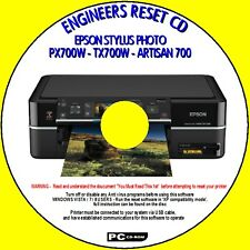 EPSON ARTISAN 700 PX700W TX700W PRINTER WASTE INK PAD FIX RESET ENGINEERS CD NEW