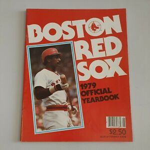1979 Boston Red Sox Official Yearbook Jim Rice Cover