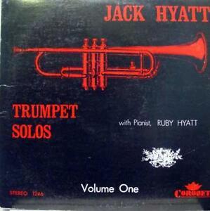 Jack & Ruby Hyatt - Trumpet Solos LP VG+ 850C 2830 Vinyl 1968 Record