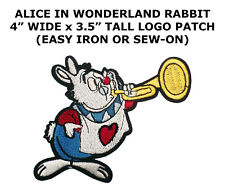 Rabbit - Alice In Wonderland - Disney - Embroidered Iron On Applique Patch