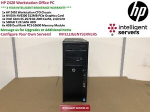 HP Z420 Workstation Xeon E5-2670 2.6GHz 24GB RAM DDR3 500GB SATA Quadro NVS 300