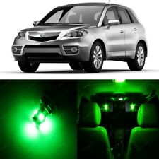 10 x Green LED Interior Lights Package For 2007 - 2012 Acura RDX + PRY TOOL