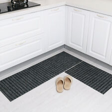 Kitchen floor mat oil absorption non-slip foot mat,Dark grey,50*80+50*180cm