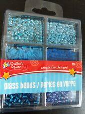 Glass Beads Variety small Blue set by Crafters Square. New in package