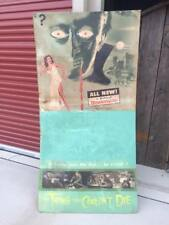 RARE Vintage Scary Movie Drive-In Poster Sign The Thing that Couldn't Die SCI-FI