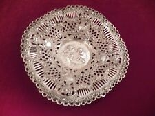 """FANCY 800 SILVER BOWL PIERCED W/FLOWERS, SWAGS, AND CUPIDS 9 1/4"""" NO MONO"""