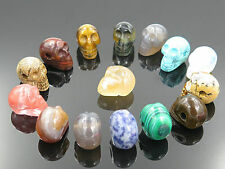 Wholesale Lot 8pcs Natural Stone skull Gemstone Necklace Pendant for women