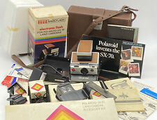 Vintage POLAROID SX-70 Land Camera + Case + Accessory Kit + Flash EUC