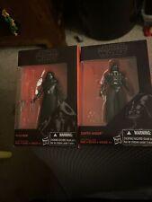 "Star Wars KYLO REN & DARTH VADER Black Series 3.75"" NIB !"