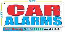 CAR ALARMS Banner Sign NEW Larger Size Best Quality for The $$$