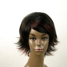 perruque femme afro 100% cheveux naturel courte méchée noir/rouge KITTY 04/1b410