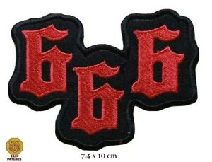 666 Devil Biker Special Embroidered Iron On Sew On Patch Badge For Clothes
