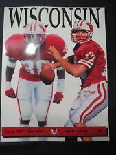 1997 UNIVERSITY OF WISCONSIN BADGERS FOOTBALL PROGRAM VS BOISE STATE