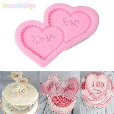 Love Heart Silicone Mold Fondant Cake Decorating Chocolate Sugarcraft DIY Mould
