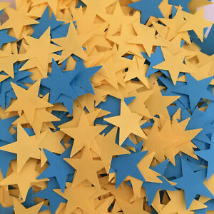 """1,000 - 3/4"""" Paper Punch Star Pieces-Confetti, Scrapbooking, Card Making, Crafts"""