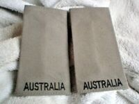 CC ONE SET 2 AUSTRALIAN MILITARY EPAULETS  11 cm X 6 cm
