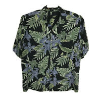 Hawaiian Shirt Mens Size XL Floral Multicolor Short Sleeve Rayon Button Down