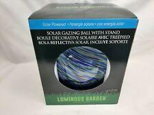 """Meadow Creek Luminous Garden Glass 11.8"""" H Gazing Ball - Multi-Colored"""