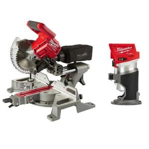 Miter Saw M18 FUEL Dual Bevel Sliding 7 1/4 In Compact Router Brushless Cordless