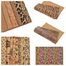 A4 Soft Cork Fabric Patchwork Sheet DIY Garments Bags Sewing Crafts Accessories