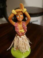 """Vintage Hawaiian Hula Girl 5"""" Nodder Dancer Car Dashboard 1950s,60s ?"""